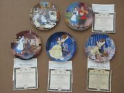 Belle From Beauty And The Beast Limited Edition Plate Set For Disney By Knowles
