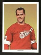1963-65 Chex Gordie Howe Autographed Period Signed Hq Card Psa/dna And Jsa Loa's