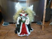 Vintage Lighted Tree Topper Or Floor Limited Edition Angel Le/2000 Large