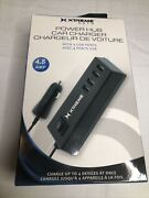 Xtreme Auto4 Ports Usb Car Charging Hub For All Usb Enabled Device 4.8 Amp