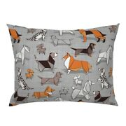 Dogs Origami Beagle Corgi Dachshund Chihuahua Crafts Pillow Sham By Roostery