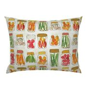 Kitchen Vinatge Style Canning Vegetables Pickles Harvest Pillow Sham By Roostery