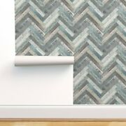 Removable Water-activated Wallpaper Rustic Farmhouse Shabby Chic Shiplap