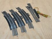 Lot Of 4 Tyco Train Track Curved Terminal 18 R Scale Ho Model Railway Rerailer
