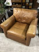 Crate And Barrel Leather Swivel Chair
