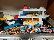 Huge Lot Playmobil Play Mobil Parts Of Rv Camper And Cruise Ship Sets Incomplete