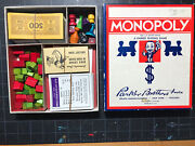 Rare Vtg 1936 Monopoly Box Early Edition Board Game Looks Unplayed Factory Mint