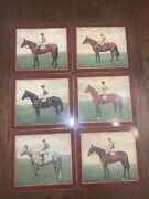 Vintage Equestrian Decor Hennessy Gold Cup Winners 50s-60s Cork Backed Plaques