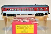 Mint New Mts Imports Brass O Scale Cns And M Interurban Silverliner Coach Car - Fp