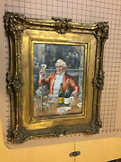 Original Framed Advertising Water Color Painting -- Gold Seal Brut And Special Dry
