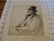 Original Walter R. Duff Etching, To Chester S. Lord From John Elderkin