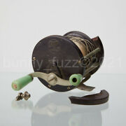 Vintage Penn No. 77 Fishing Reel With Green Handles - Repair Replacement Parts