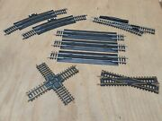 Lot Of 8 Tyco Train Track Curved Terminal 18 R Scale Ho Model Railway Rerailer
