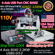 〖us〗2200w Cnc Router 6040 4axis Mach3 Usb Engraver Drilling Milling Machine 110v