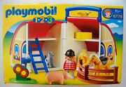 Playmobil 1 2 3 Take Along Barn With Animals New 6778 Horse Cat Pig