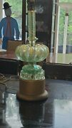 Beautiful Barovier And Toso 1950s Aqua And Gold Flex Murano Art Glass Table Lamp