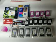 Lot Of 23 Genuine Canon And Hp Virgin Empty Ink Cartridges