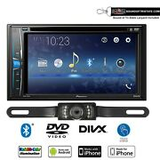 Pioneer Avh-221ex Multimedia Dvd-receiver With License Plate Style Backup Camera