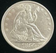 1854 United States Seated Liberty Silver Half Dollar Arrows
