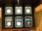 29 Silver Proof Kennedy Half Dollars 90 Silver Pcs Coins + Display Case + Key