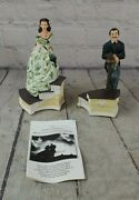 Gone With The Wind 1993 Figurines Rhett Butler And Scarlett Figurine/music Boxes