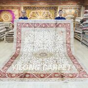 Large All Over Hand Knotted Silk Carpets 8x10ft Oriental Handmade Area Rugs 026c