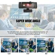 1k/2k/4k/8k Webcam With Microphone Privacy Cover For Video Calling Conferencing