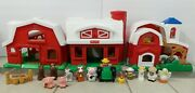Fisher Price Little People Farm Barn Chicken Coop Figures Animals Lot With Sound