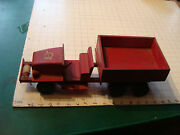 Vintage Wooden Pull Toy Wwii Truck By Toy-craft Company, Very Rare Park Dept.