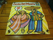 Vintage 1969 Fiesta Del Monte Poster, A Bit Hippy, Fun And Cool 8