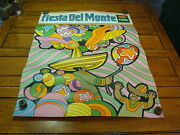 Vintage 1969 Fiesta Del Monte Poster, A Bit Hippy, Fun And Cool 7