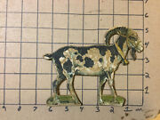 Vintage Original -- Paper Litho - Wooden Old Goat - Circa 1800and039s No Name On It