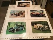 Complete Set Of 8 Car Photos From Walkers Deluxe Whiskey