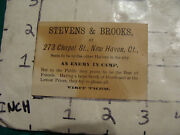 Vintage Puzzle Card From Stevens And Brooks New Haven Ct----an Enemy In Camp