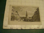 Original Print 1700and039s Or 1800and039s - Bull Ring And St. Martins Church Birmingham