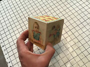 One Early Paper Litho Toy Block Smallest Of Set Usually Lost. 3x3x3 U-z