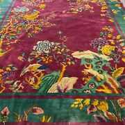 Antique Art Deco Chinese Rug In Good Condition 9352 8.11x11.7