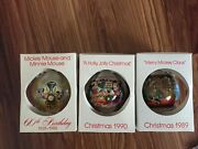 Disney World Assorted Glass Ornaments, See Pictures, Rare, Vintage