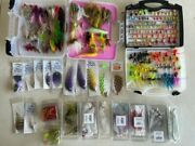 Fly Fishing 260+ Flies. Saltwater Big Game Musky Pike Trout +++ W/ Boxes