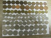 Lot Of 116 Different Obsolete Great Britain Coins - 1946 To 1980 - Circulated