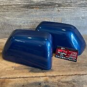 Brand New Oem 17+ Ford Super Duty Painted To Match Mirror Caps Atlas Blue B3