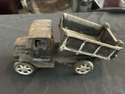 Vintage Collectible Cast Iron Metal Toy Dump Truck W/working Lever