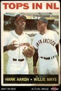 1964 Topps 423 Willie Mays / Hank Aaron - Tops In Nl Braves / Giants Authentic