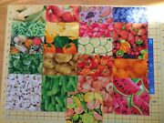 42 I Spy 5 Charm Pack-vegetables And Fruits Quilt Fabric Squares 21 Prints- 2 Ea