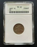 1857 Flying Eagle 1 Cent Old Anacs Case Ms-62 High Grade Better Date Coin