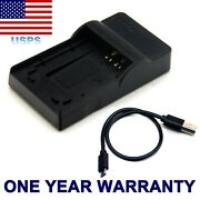 Usb Battery Charger For Toshiba Camileo H30 X100 Np-120 Px1657 Usa Stock New