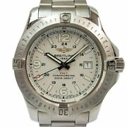 Breitling Colt At A74388 Used Watch White Dial Menand039s Excellent Condition