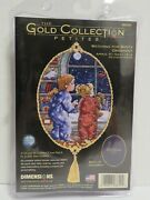Dimensions Gold 8699 Watching For Santa Ornament Counted Cross Stitch Kit 5 X 7