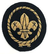 1960's British / United Kingdom / Uk Scouts - Sea Scout Officer Hat Padded Badge
