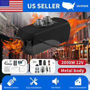 Diesel Air Heater 2kw 12v Lcd Rotary Thermostat For Trucks Boat Car Trailer